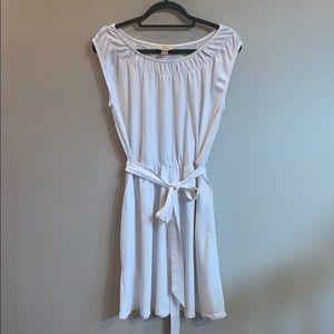LOFT White Cotton Knit Dress